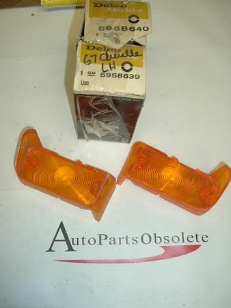 1967 Chevrolet Chevelle nos park lamp lens pair (A 5958640 5958639)