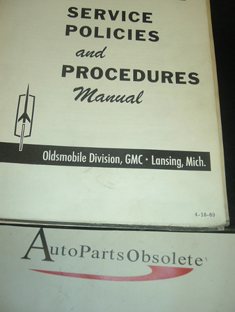 1969 Oldsmobile Technical Bulletins and Service Manual A 69 olds tech a  b