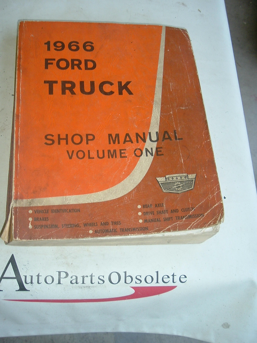 1966 Ford Truck service manual factory original (a 66 fordtruckman)