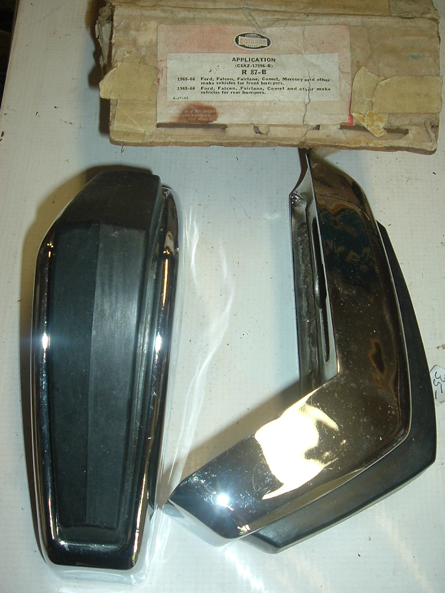 1965 1966 Ford Falcon Fairlane bumper guards (a r87-b c5az-17996-b)