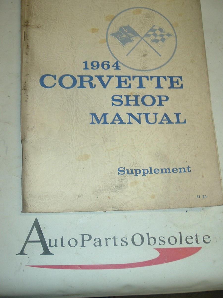 1964 Corvette shop manual supplement (a 64 vette supp)