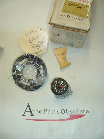 View Product1970,1971,1972 pontiac firebird dah clock nos gm # 988863 (az 988863)