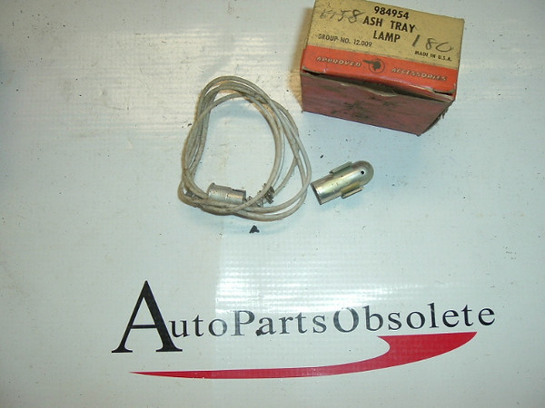 1955 poNTIAC NOS ASH TRAY LAMP ACCESSORY KIT 984954