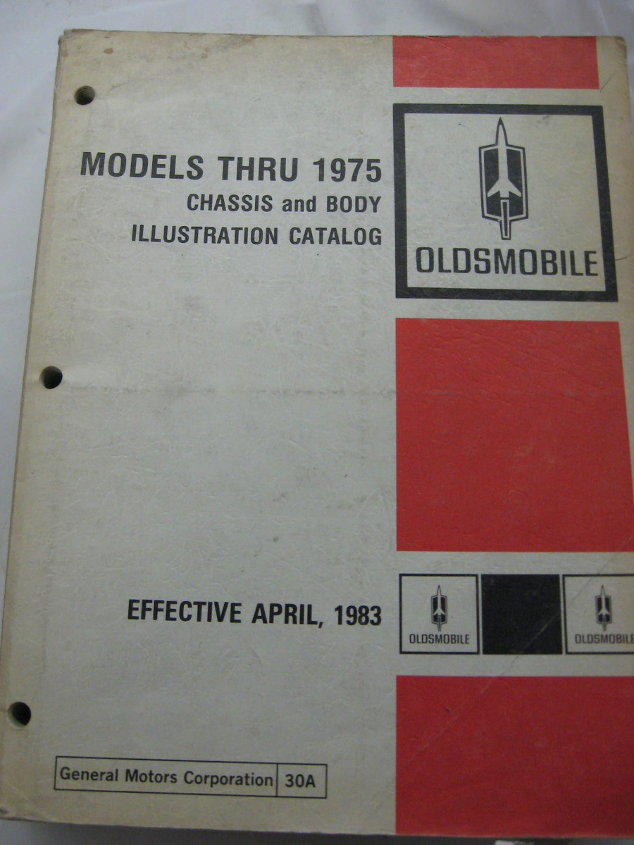 1965 -75 Oldsmobile parts illustration book original GM (A olds illus 4-83)