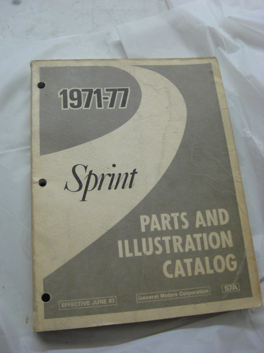 1971 72 7 74 75 76 77 GMC Sprint parts book original GM (A sprint71-77)