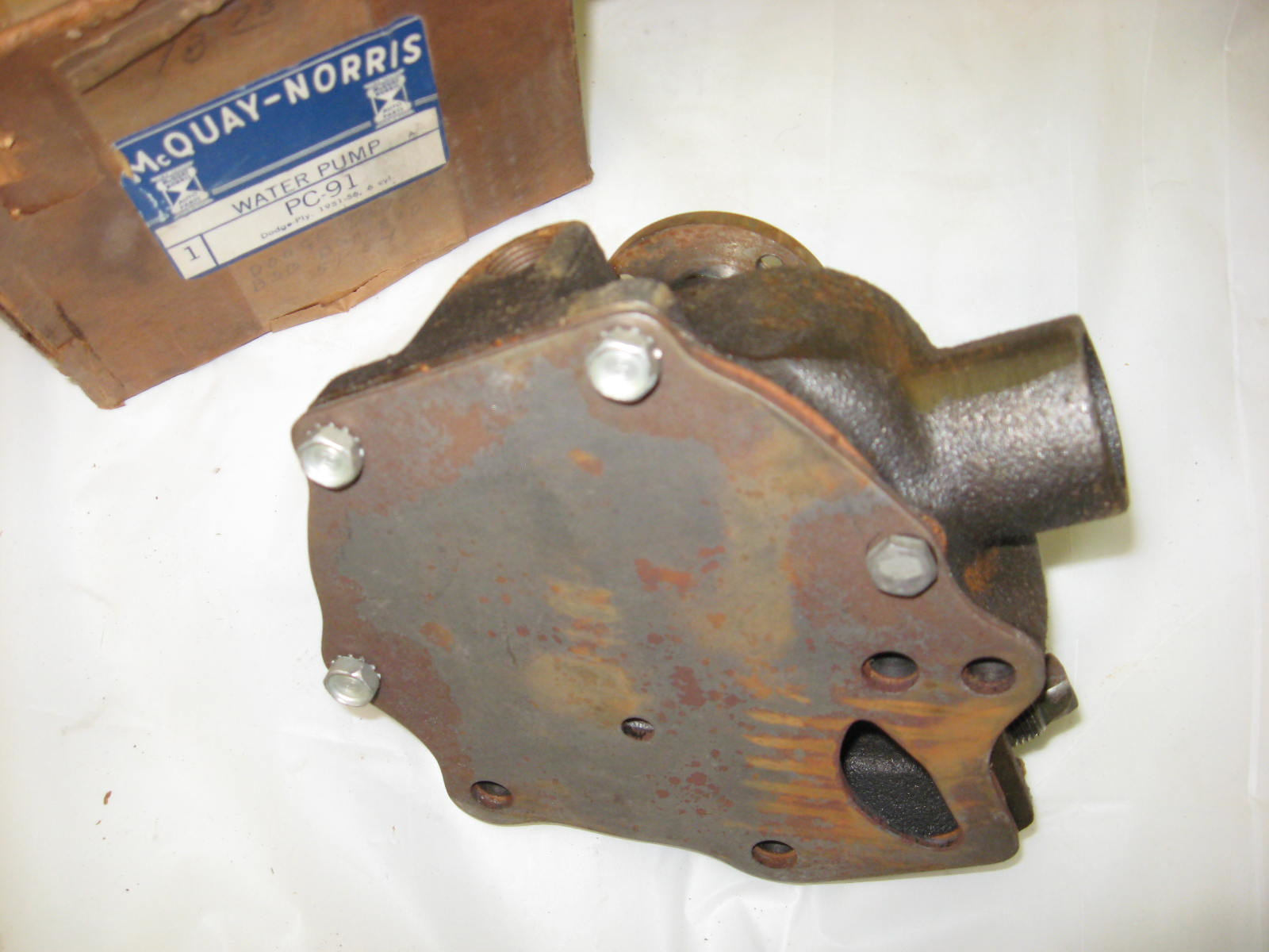 1951 52 53 54 55 56 pLYMOUTH dODGE WATER PUMP NEW 6CYL (A PC91)