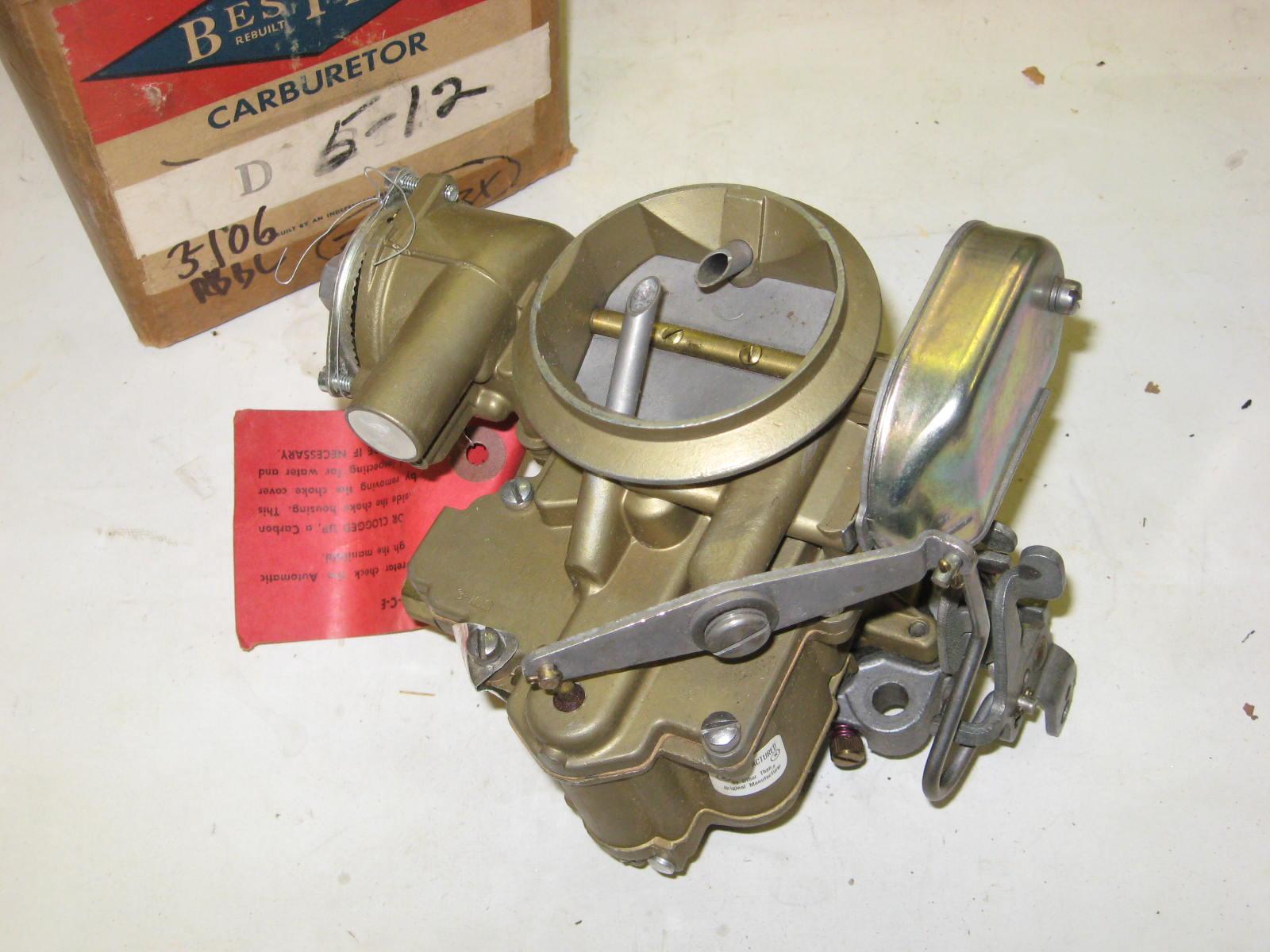 1953-54 Dodge v8 w/gyromatic 2bbl carb w soln (a 3-106rbxw)