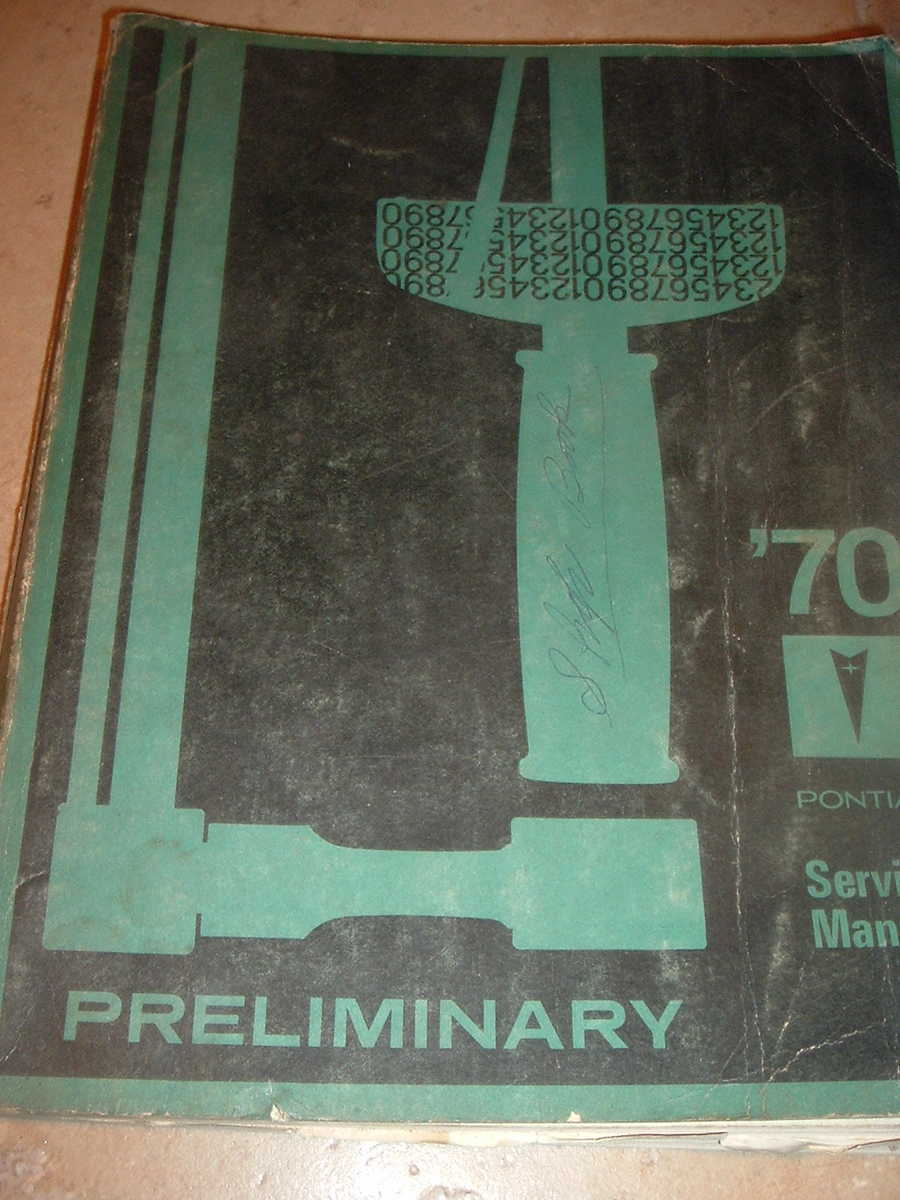 1970 Pontiac Original GM Shop Manual (A 70 pontiac prelim shop)