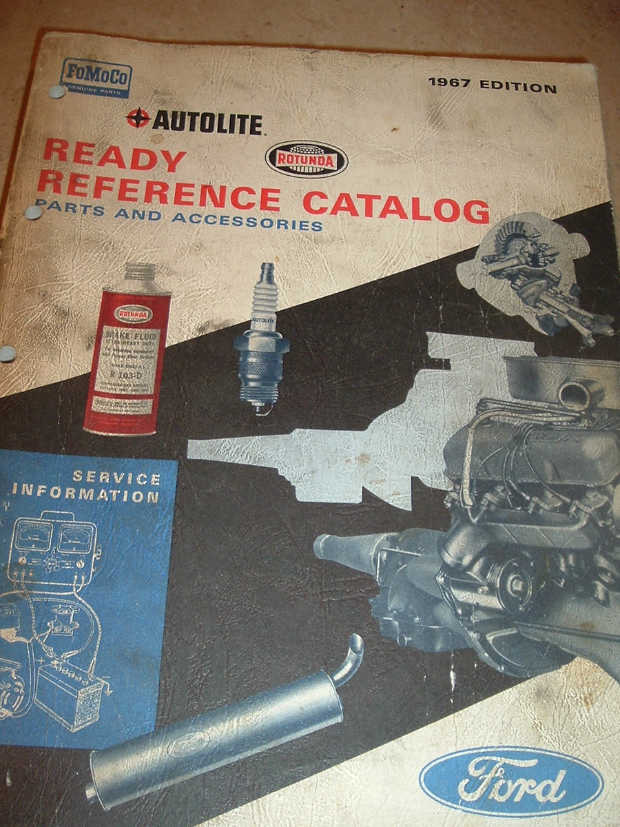 1967 Ford Autolite Quick Reference parts Catalog (A 1967 Ford Q ref)