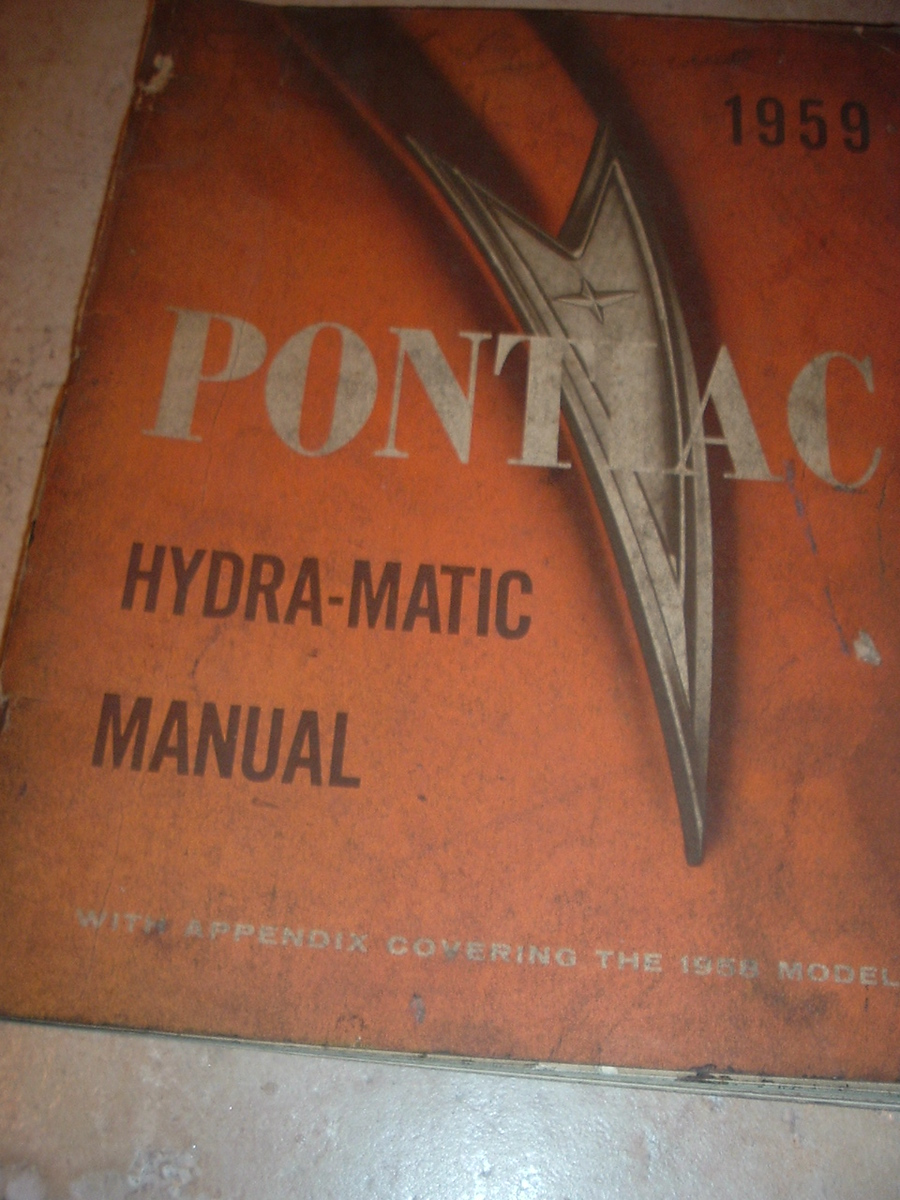 1959 Pontiac strato flight hydra matic service manual, (59 strato manual)