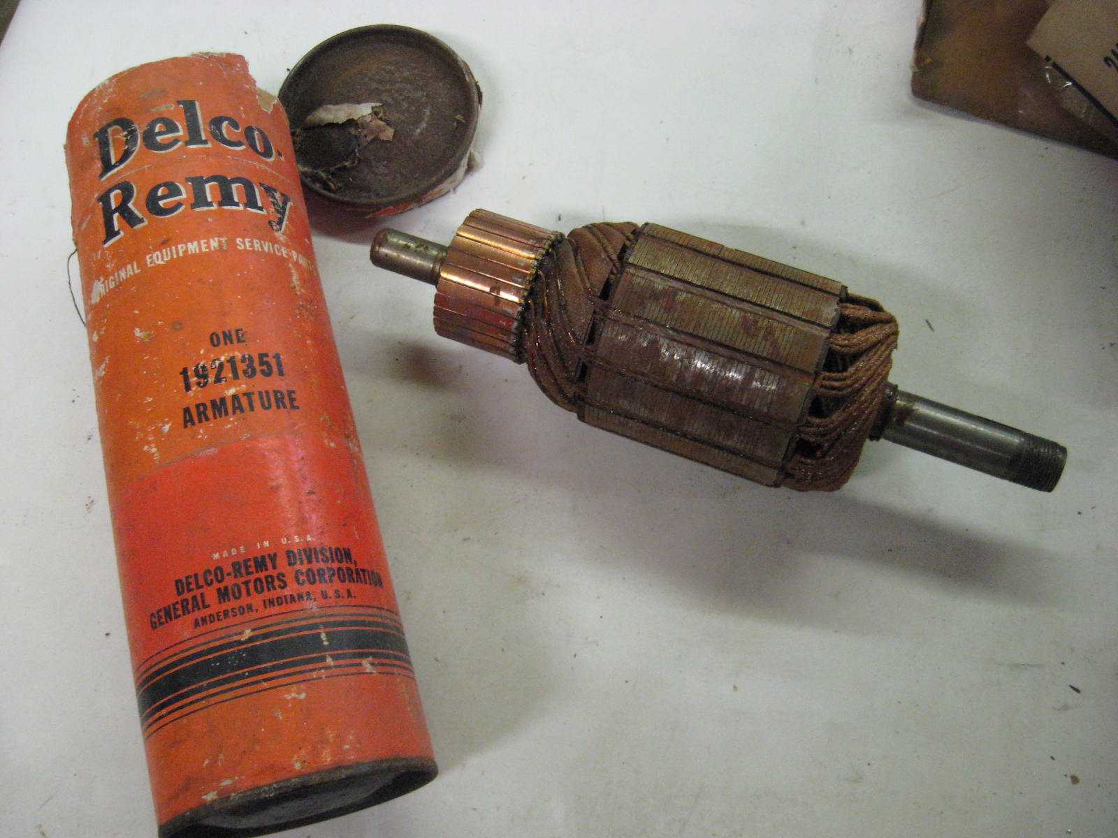 1952 Chevrolet & GMC Internatinal generator armature nos 1921351 (a 1921351)
