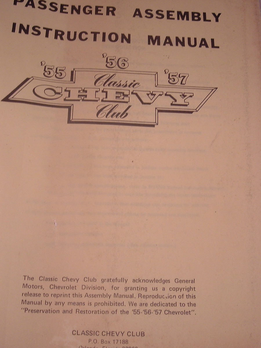 1955 Chevrolet assembly manual (a 55 chev asm man)