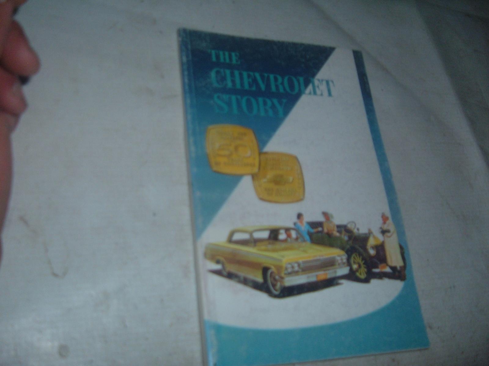The chevrolet story book 1911 thru 1962 original print impala corvette (z 62chevstory)