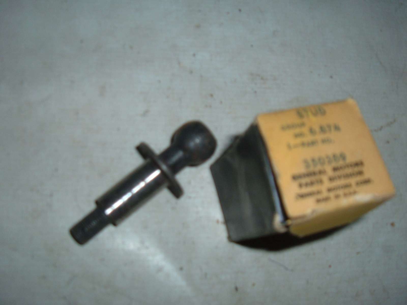 1939 chevrolet pitman arm ball stud nos gm # 350389 (z 350389)