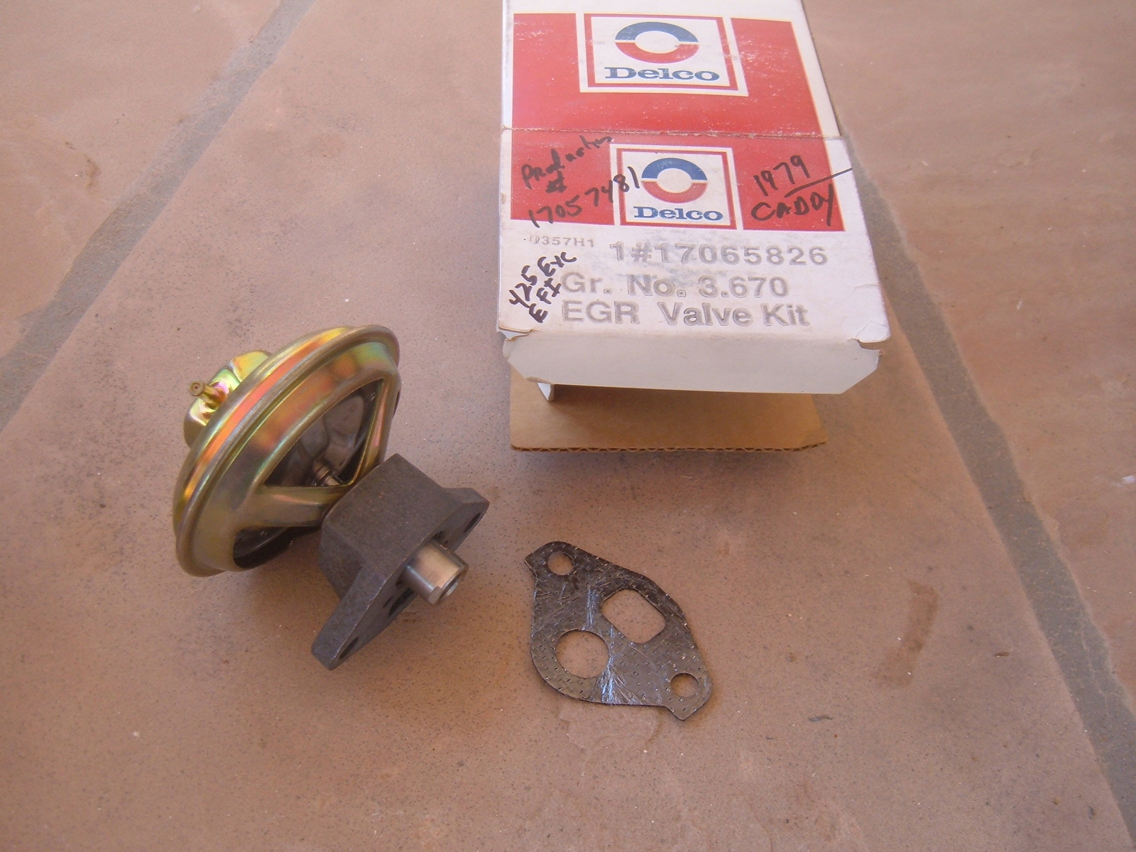 View Product1979 cadillac EGR valve nos gm 17065826 (z 17065826)