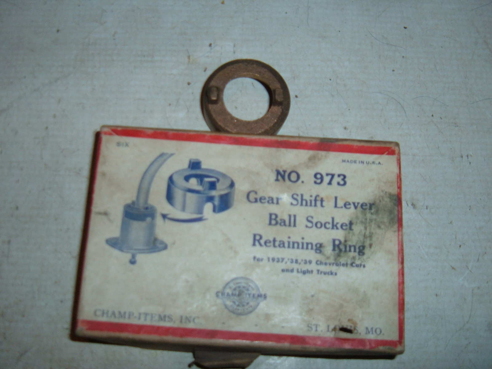 1937 1938 1939 chevrolet gear shifter retainer new (z 1937-9gearshift)