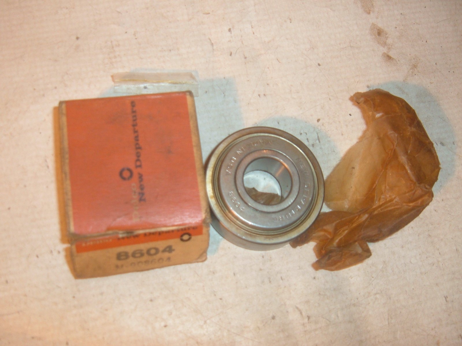 View Product1955 56 57 58 59 60 61 62 impala corvette nova generator bearing nos gm 908604 (z 908604)