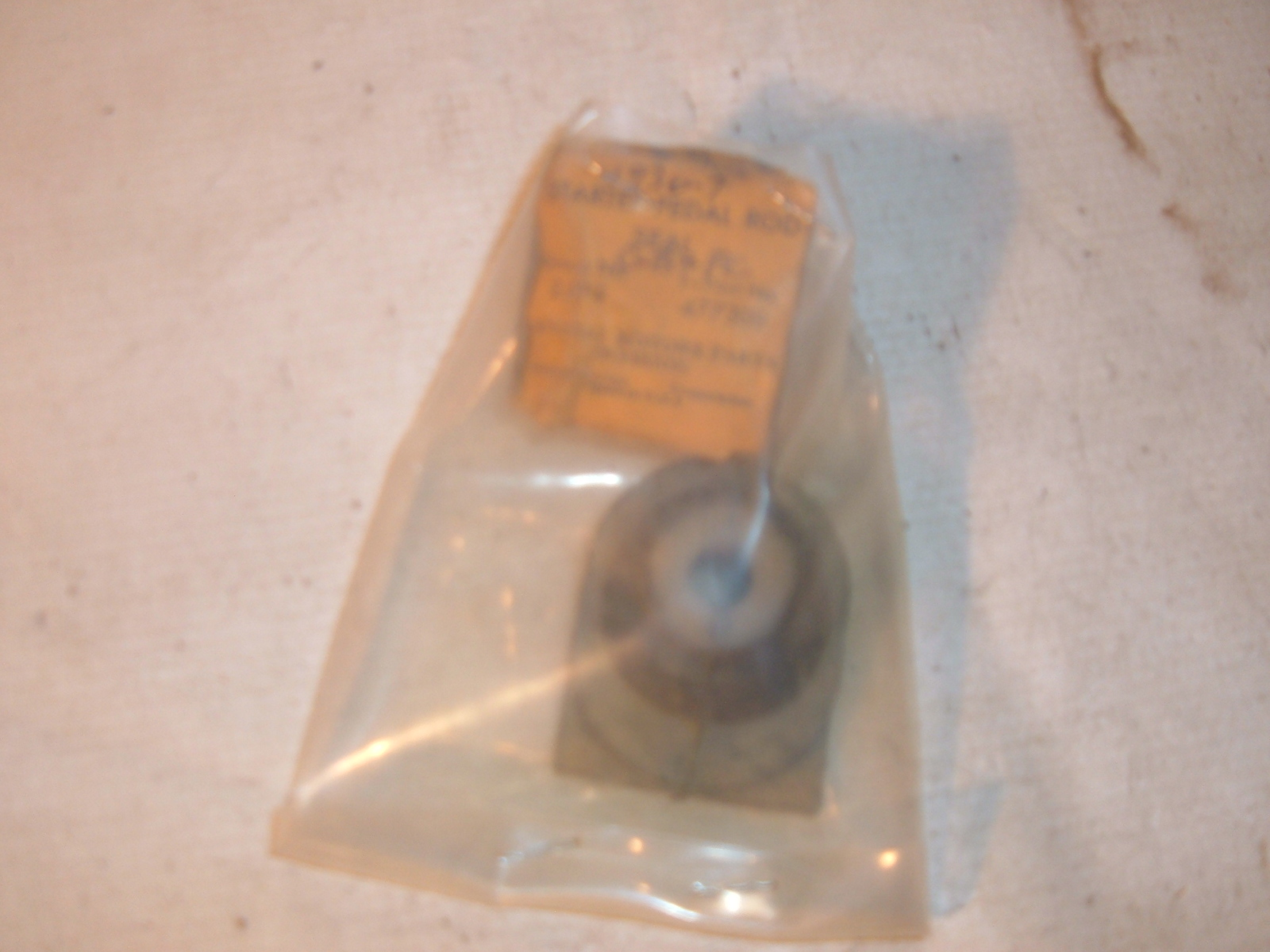 1936 37 chevrolet starter pedal rod boot nos gm # 477309 (z 477309)