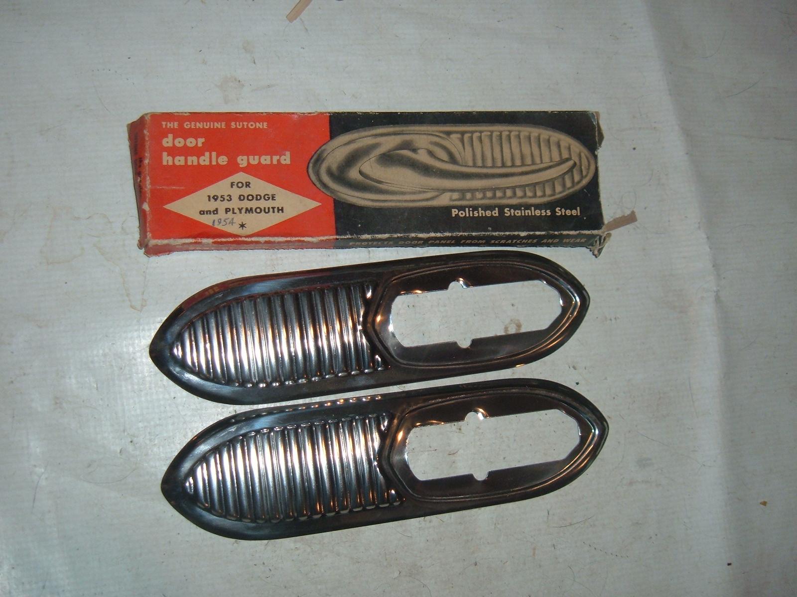 1953 54 dodge plymouth door handle gaurd shields new (z mopardoorshield)