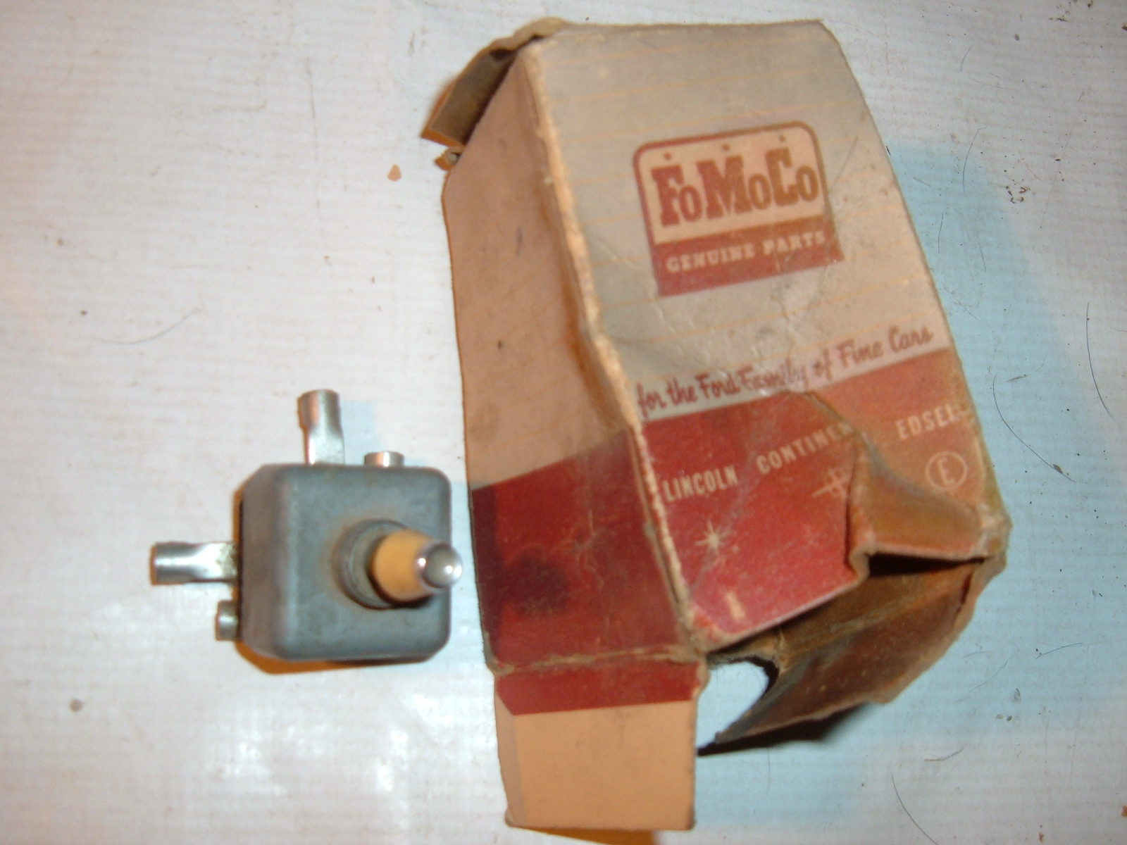 1956 57 lincoln power seat switch nos ford (z 56-7 fordpowerseat)