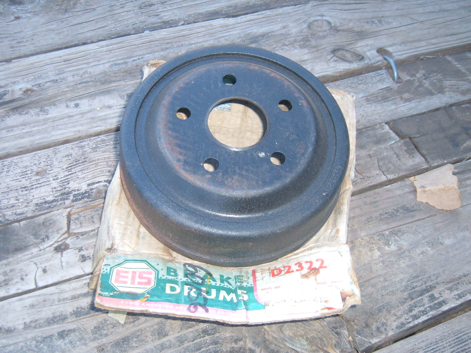 1960 1961 willys jeep front brake drum new C-2252 (z 2252)