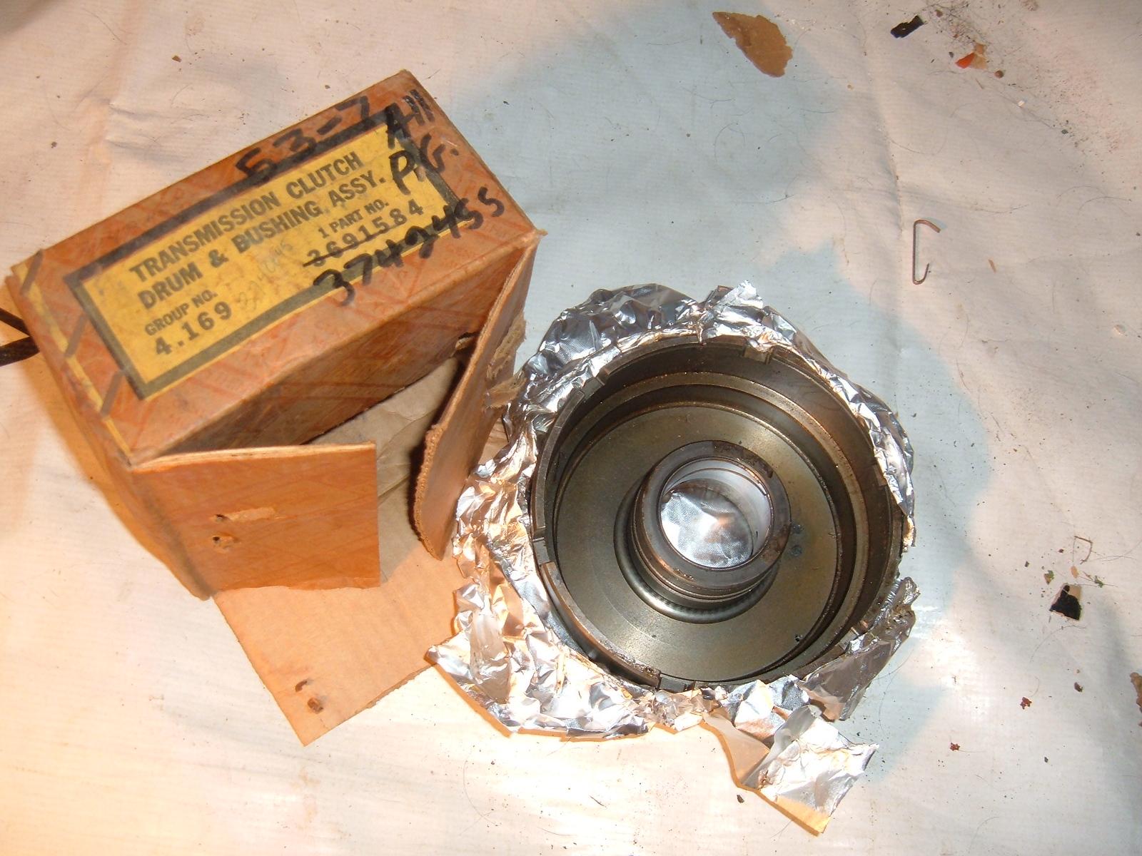 1953 54 55 56 57 corvette pass transmission clutch drum assy nos gm 3742455 (z 3742455)