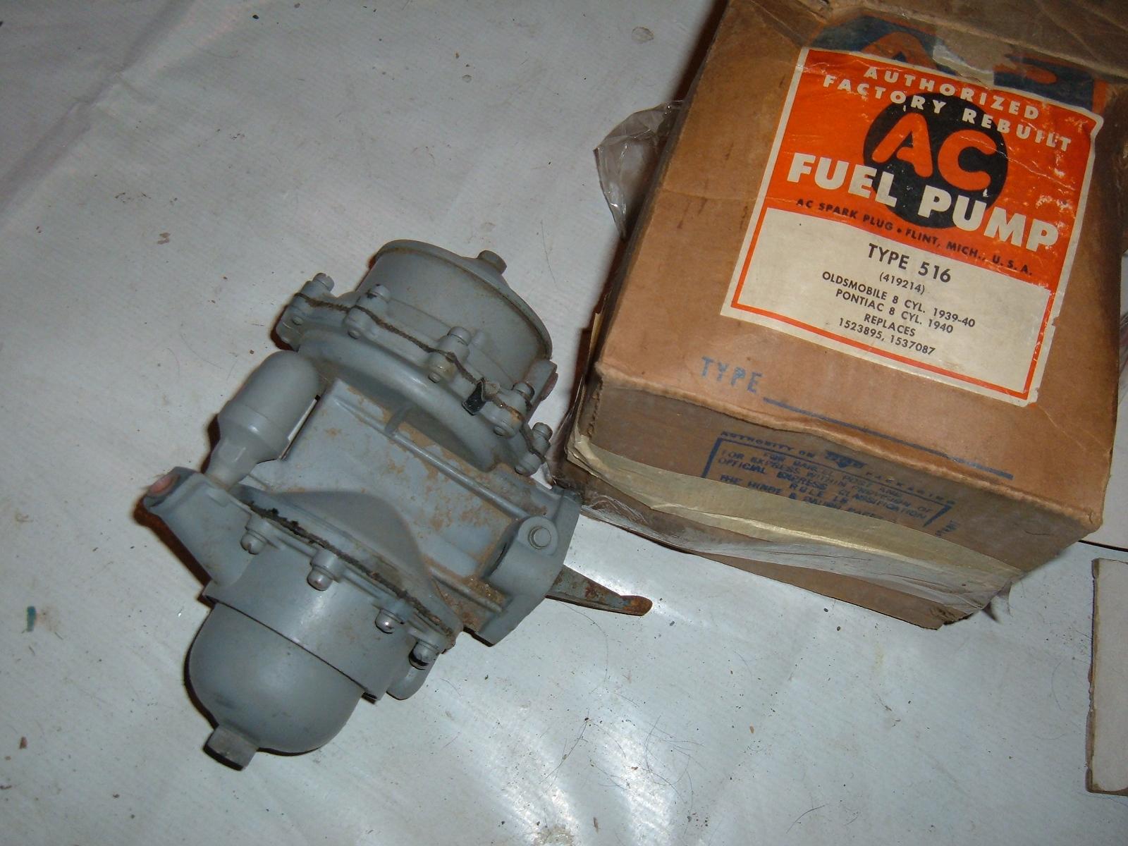1939 1940 Oldsmobile Pontiac 8 fuel pump ac delco rebuilt ac # 516 (z 516ac)