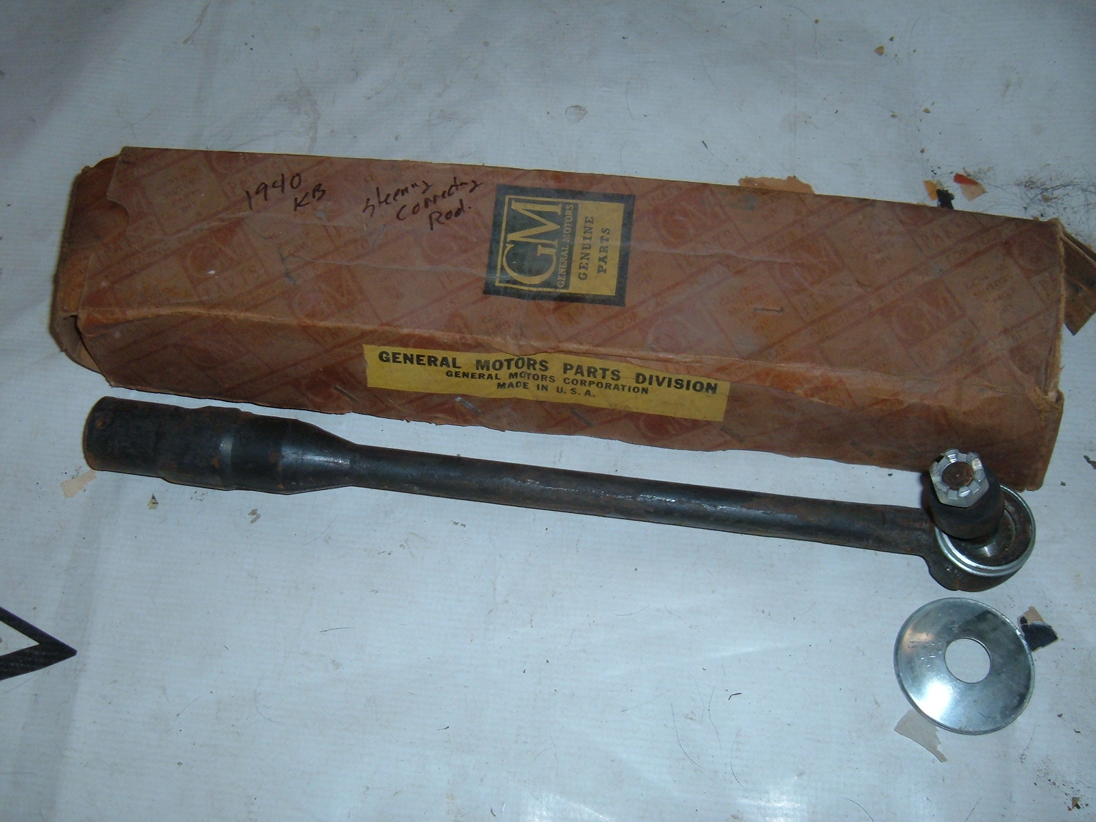 1940 chevrolet steering connecting rod (drag link) nos gm 605335 (z 605335)