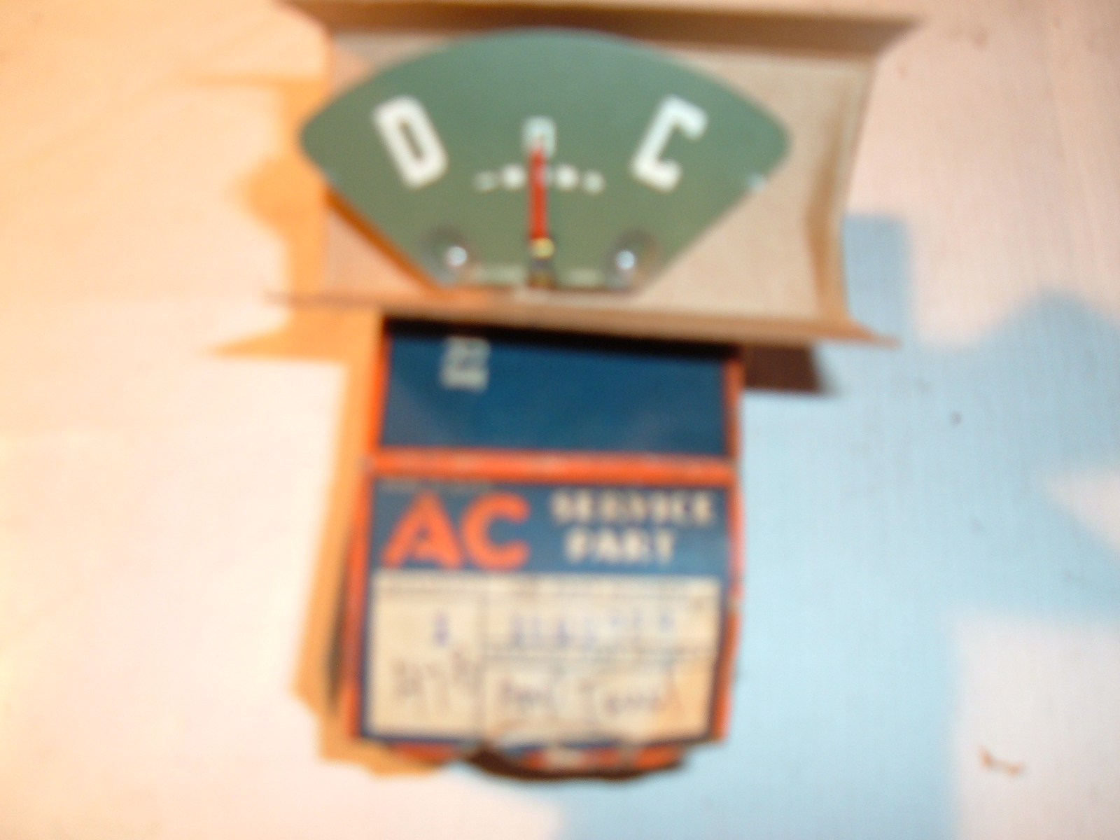 1947 48 chevrolet truck ammeter gauge dash unit nos gm # 1500928 (z 1500928)