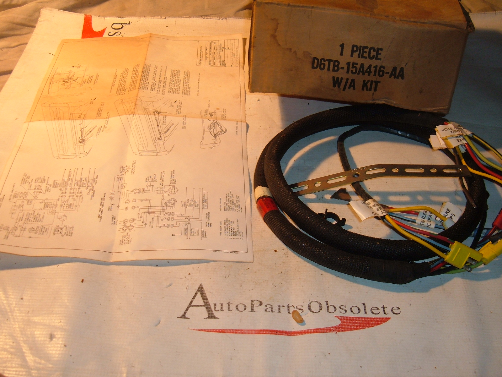 1975 76 77 78 ford truck bronco trailer wiring harness D6TB-15A416-AA (z d6tb15a416aa)