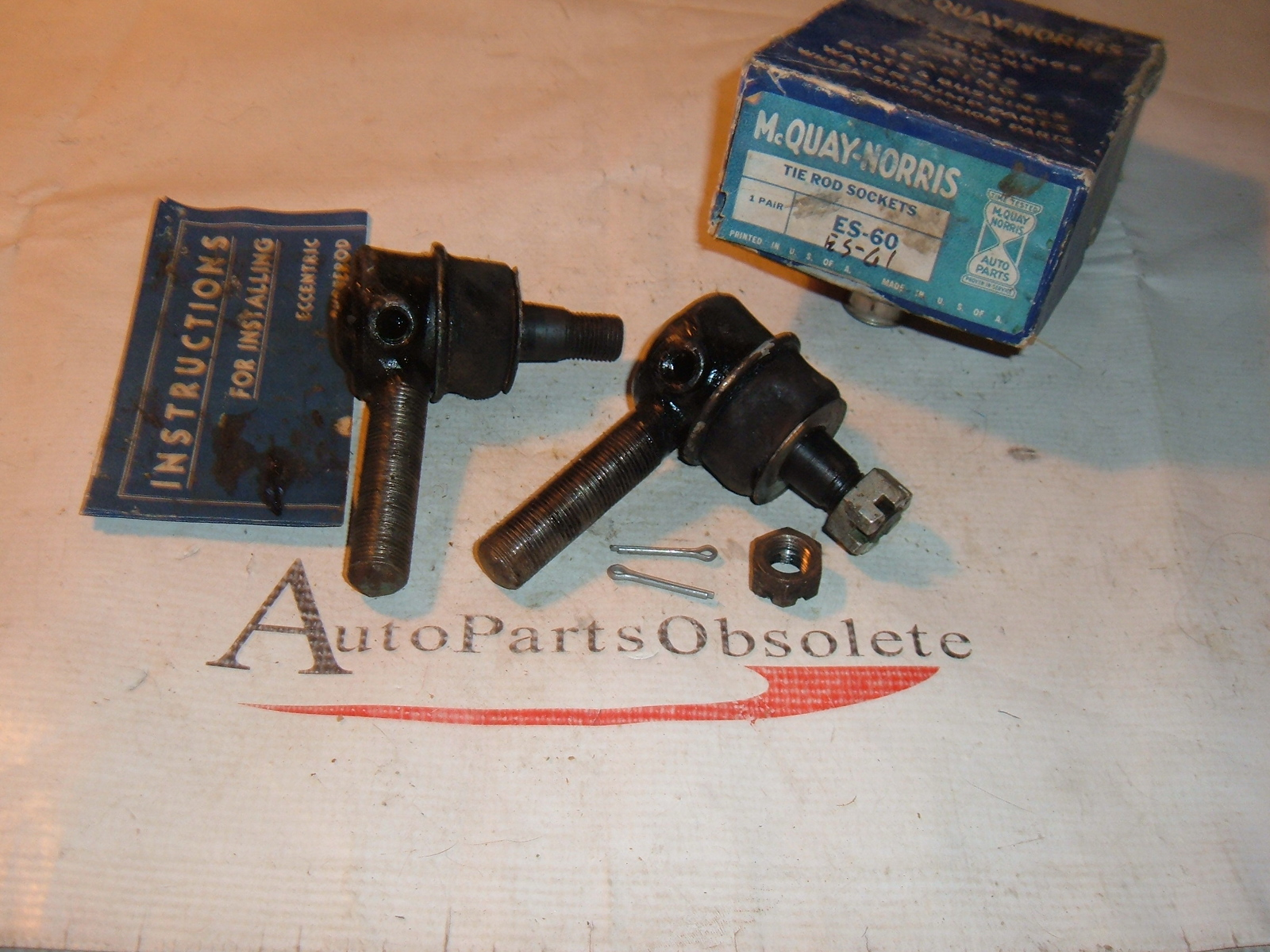 1937 38 39 40 41 42 46 47 desoto dodge plymouth tie rod ends new # ES-60 ES-61 (z es60-61)