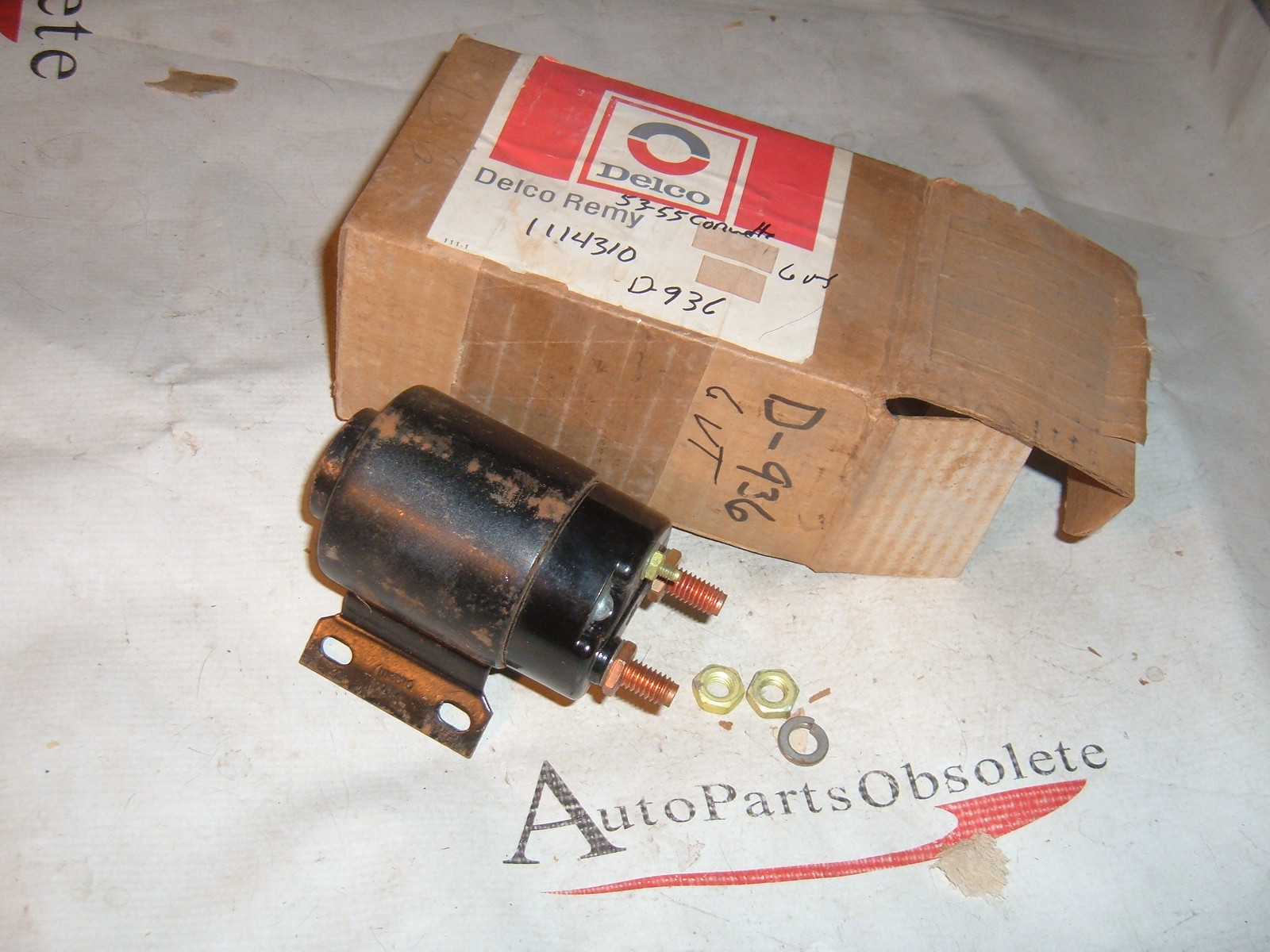 1952 53 54 55 cadillac buick oldsmobile chevrolet starter solenoid gm 1114310 nos gm (z 1114310)