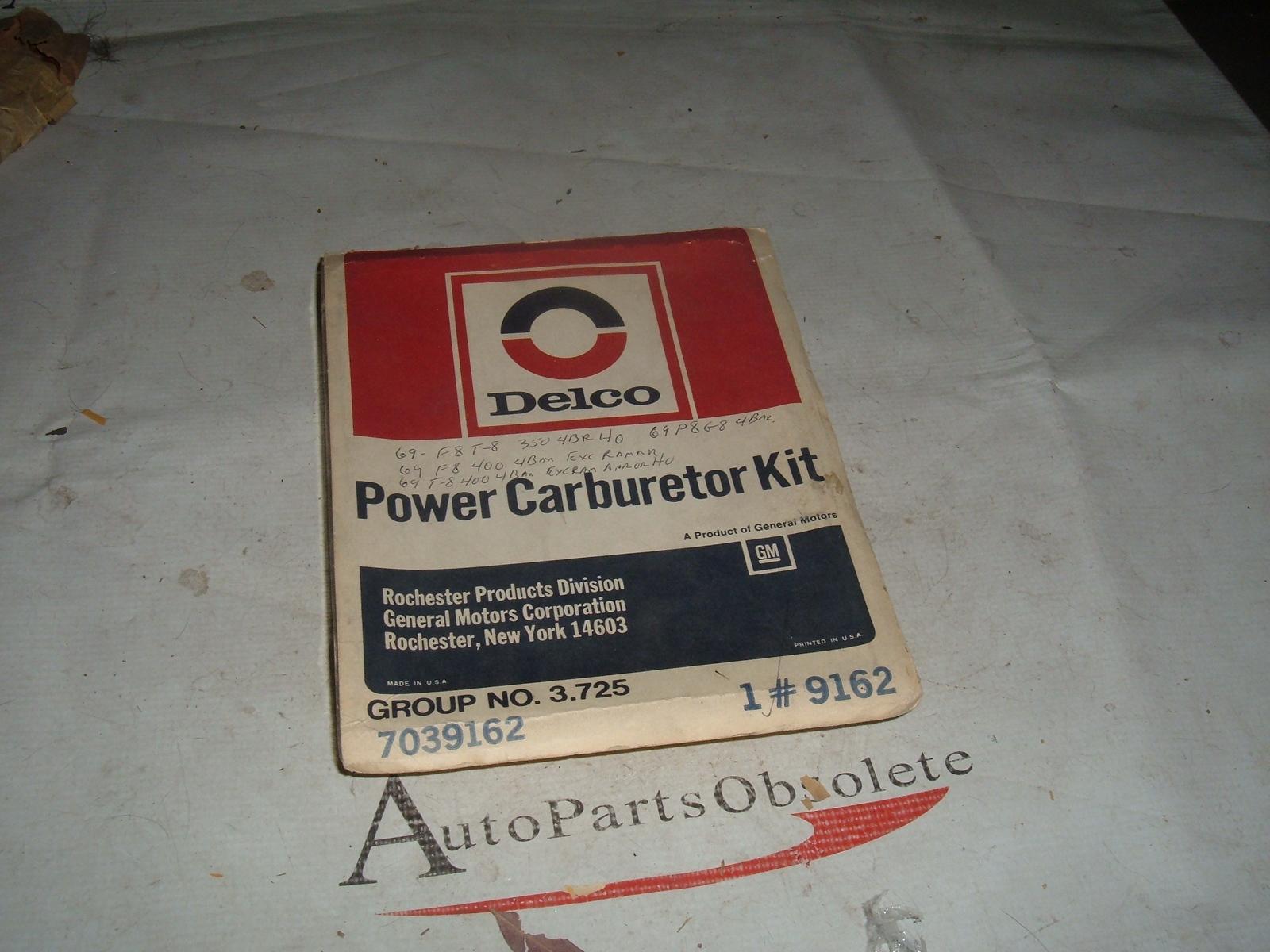 1969 pontiac 4 barrel rochester carburetor rebuild kit nos # 7039162 (z 7039162)