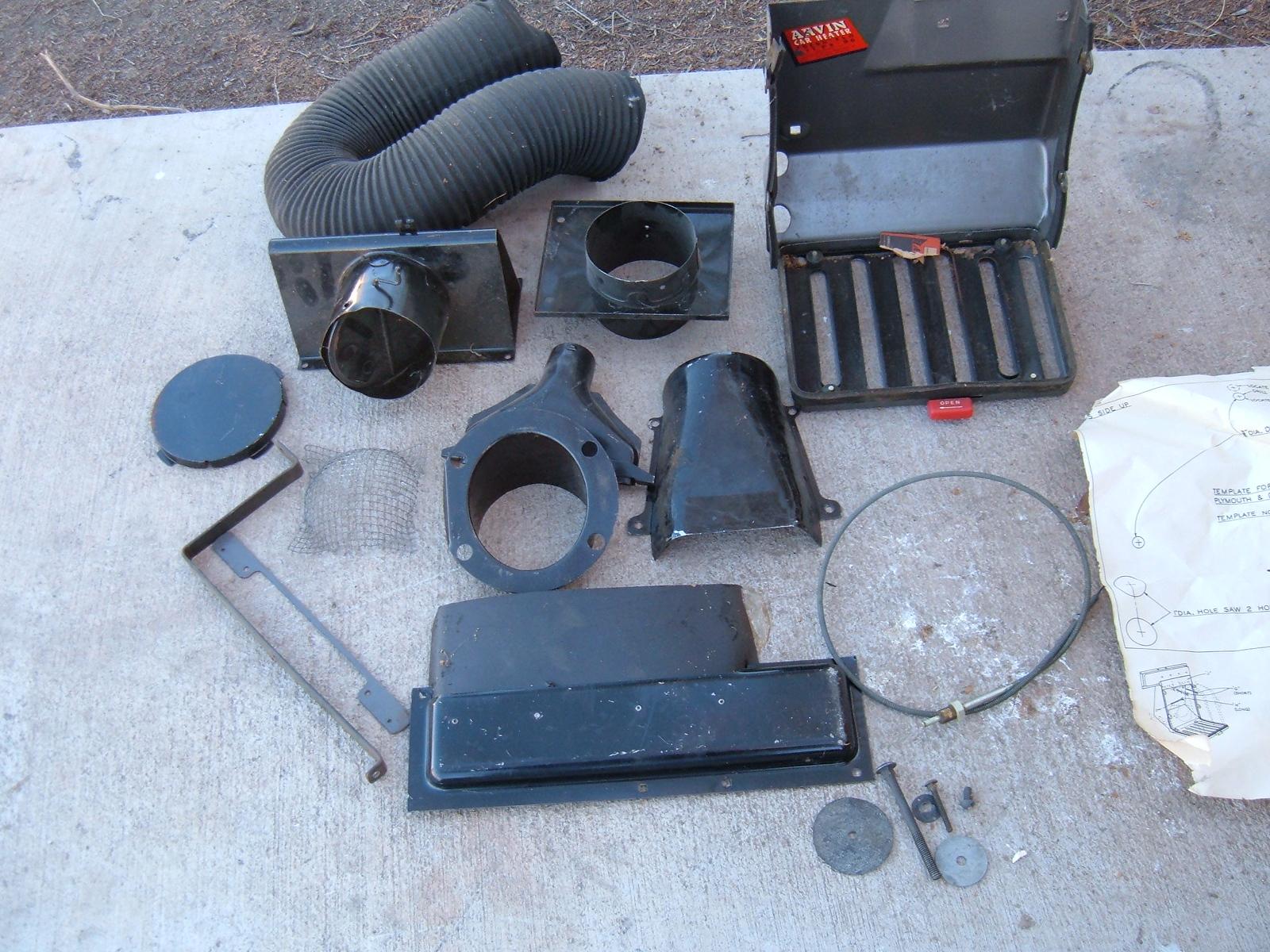 1949 dodge plymouth fresh air adapter kit nos mopar (za 49dodgefreshkit)