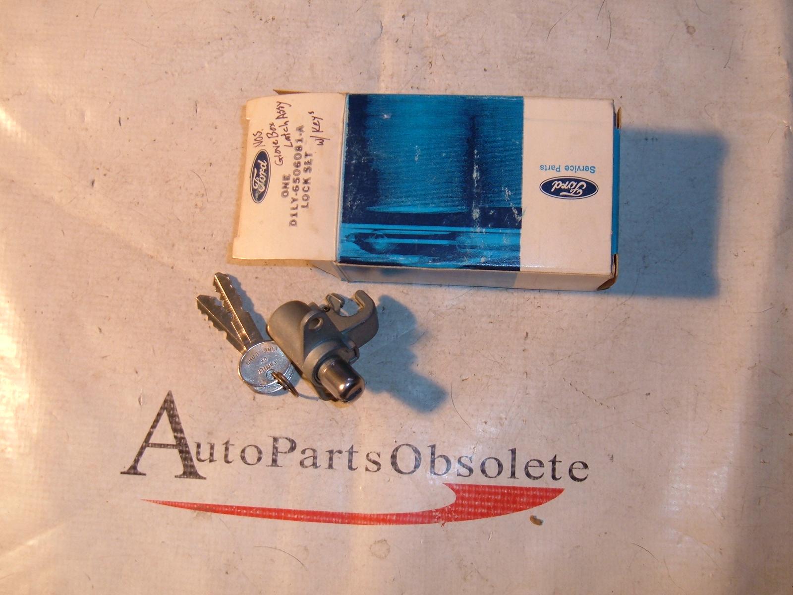 1971 72 Lincoln Mark glove box lock W/ keys NOS Ford # D1LY-6506081-A