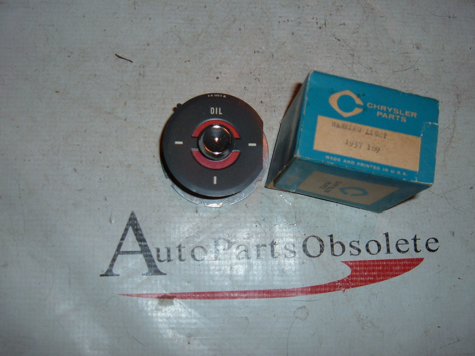 1959 60 61 62 63 64 65 66 dodge truck oil pressure dash gauge nos 1937169 (z 1937169)