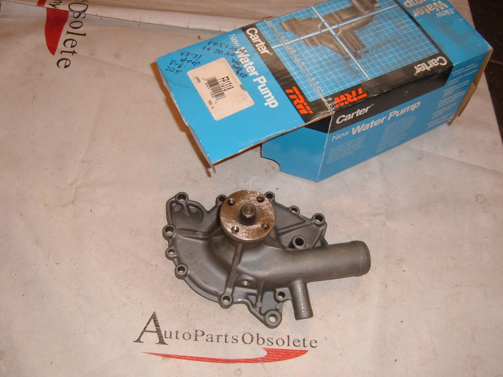 1964 65 66 67 68 69 70 71 jeep buick v-6 and 8 cly water pump (zb fb1318)