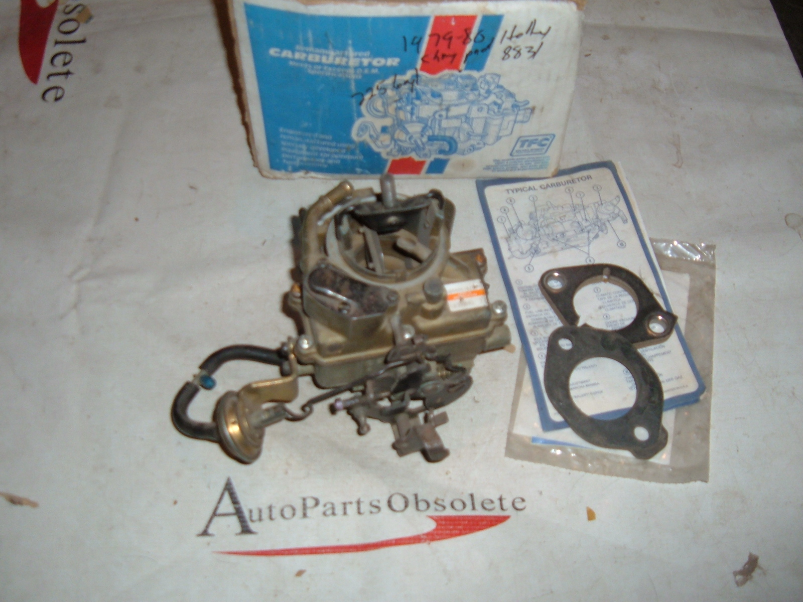 1979 80 dodge plymouth chrysler holly carburetor 225 6cyl rebuilt (z 8831)