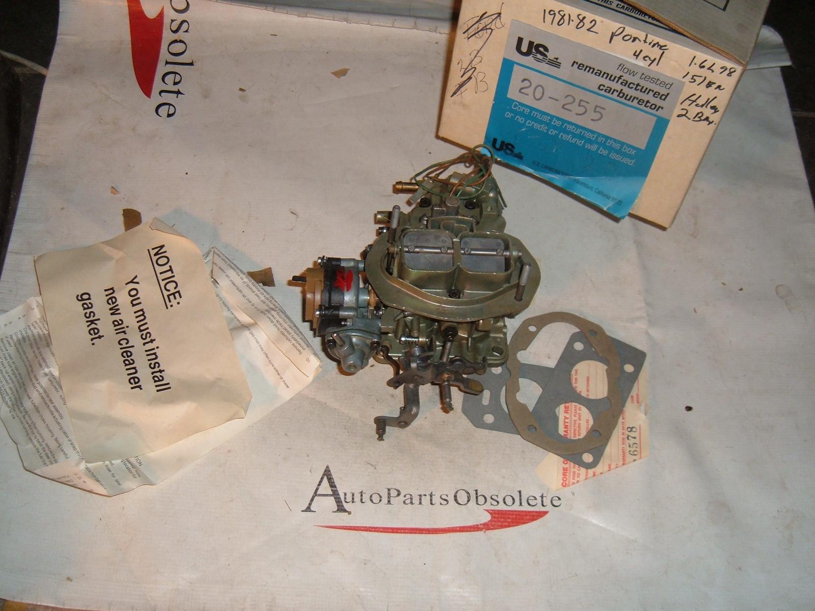 1981 82 pontiac holley 2 barrel carburetor 4cyl eng (z 20255)