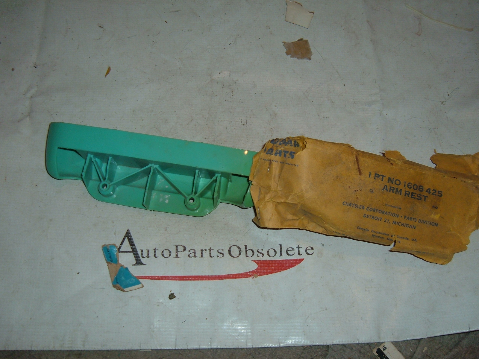 1955 plymouth arm rest base nos mopar 1608425 (z 1608425)