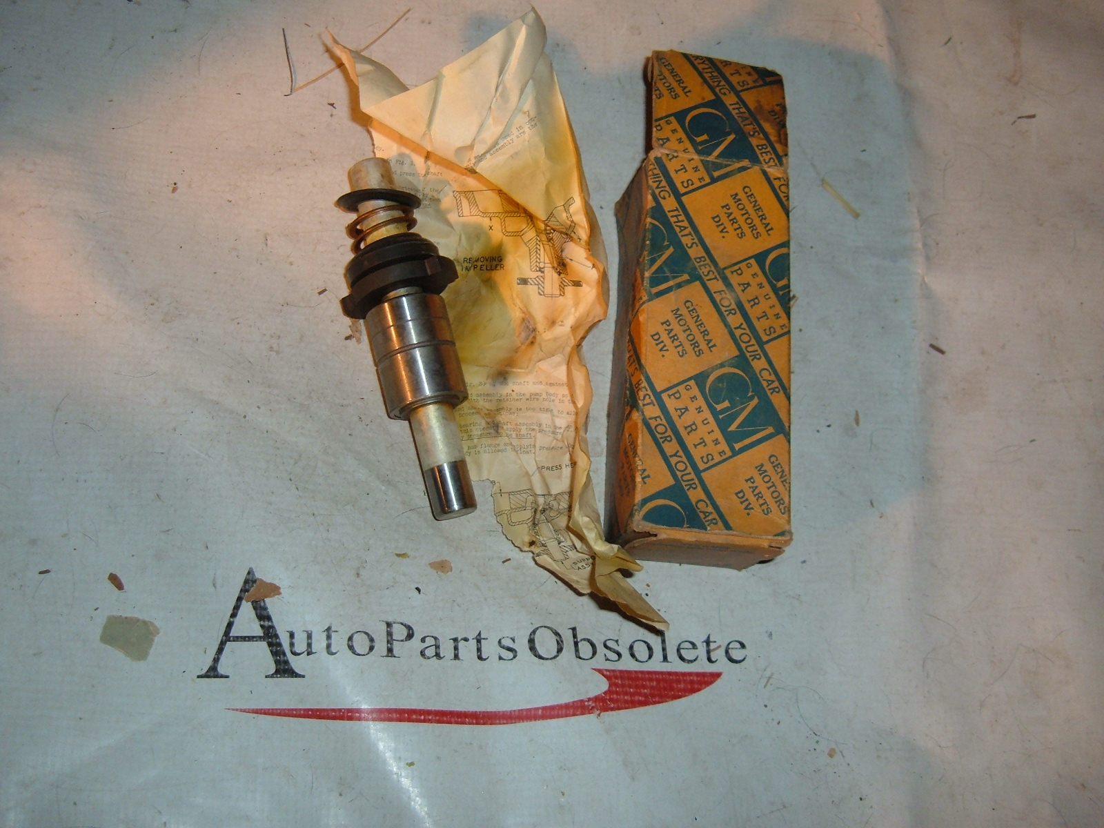 1939 1940 pontiac water pump kit NOS gm 504996 (z 504996)