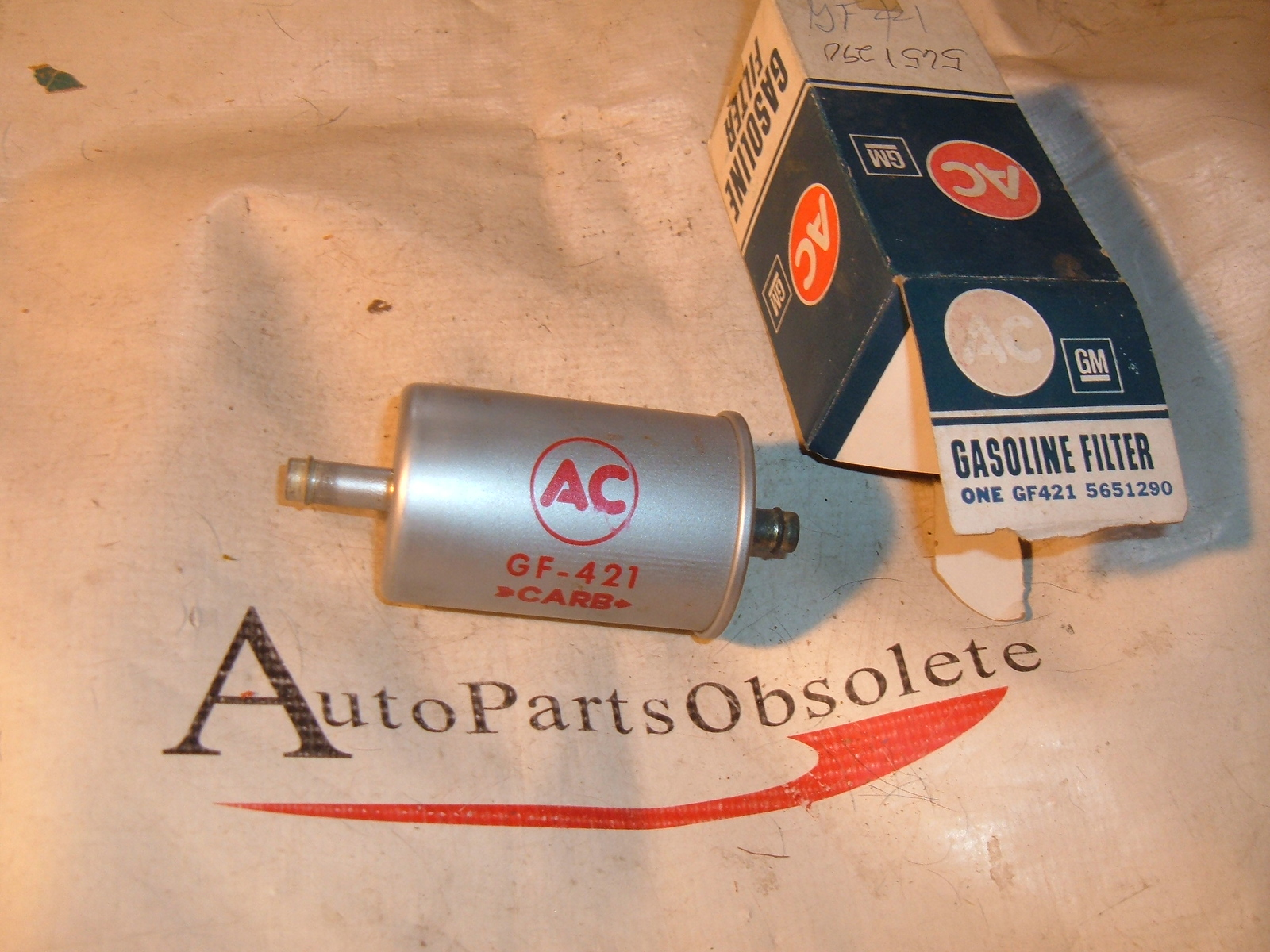 1966 oldsmolbile cutlass fuel filter nos ac delco # 5651290 (z 5651290)