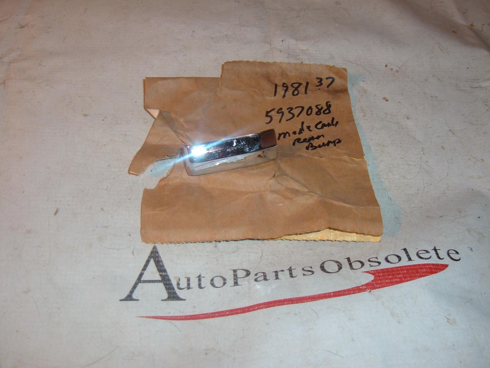 1981 chevrolet monte carlo rear bumper cap nos gm # 5973088 (z 5973088)
