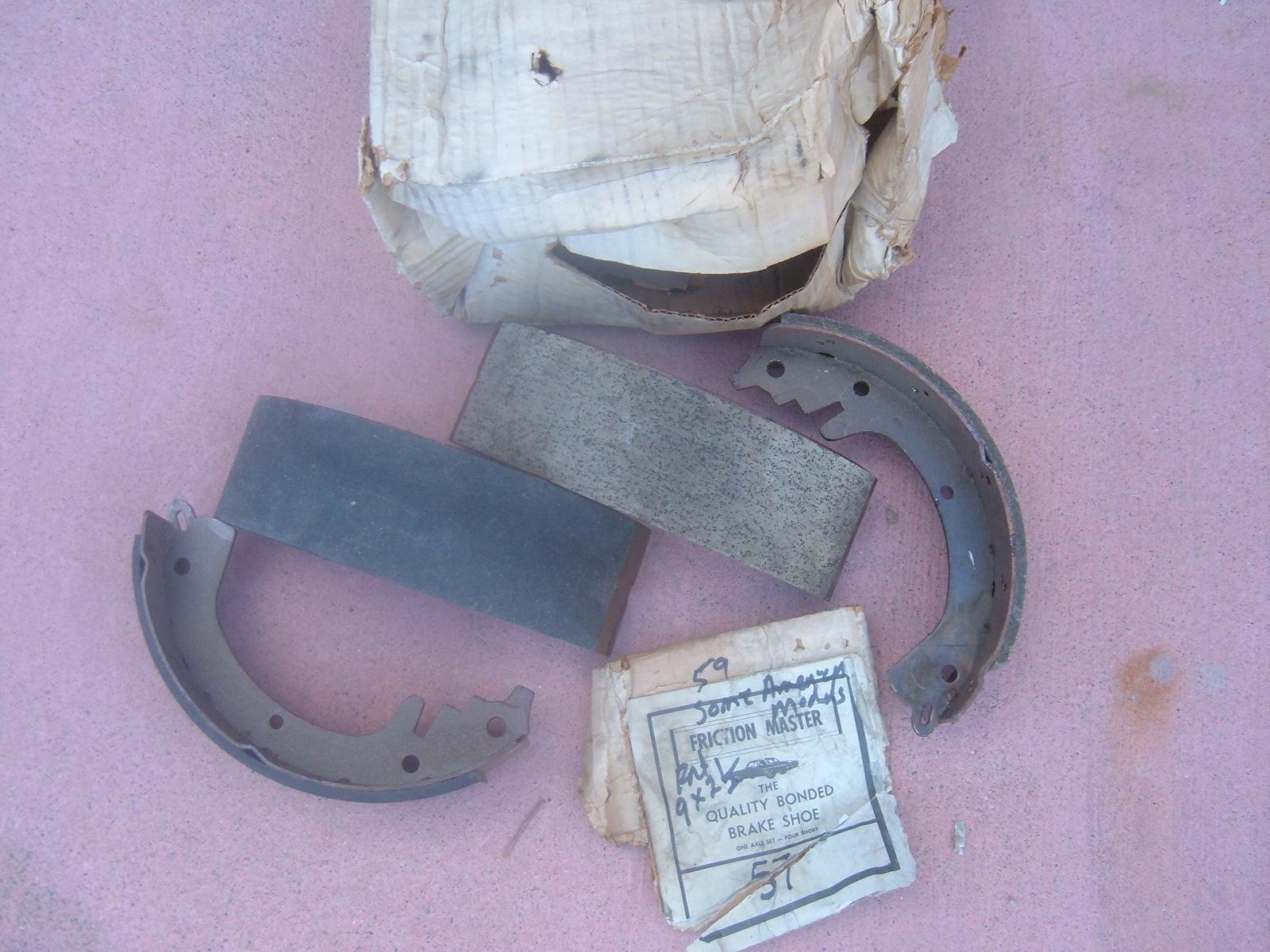 1954 55 56 57 59 rambler nash frt brakes shoes 9 X 2 1/2 # 57 (z 57)