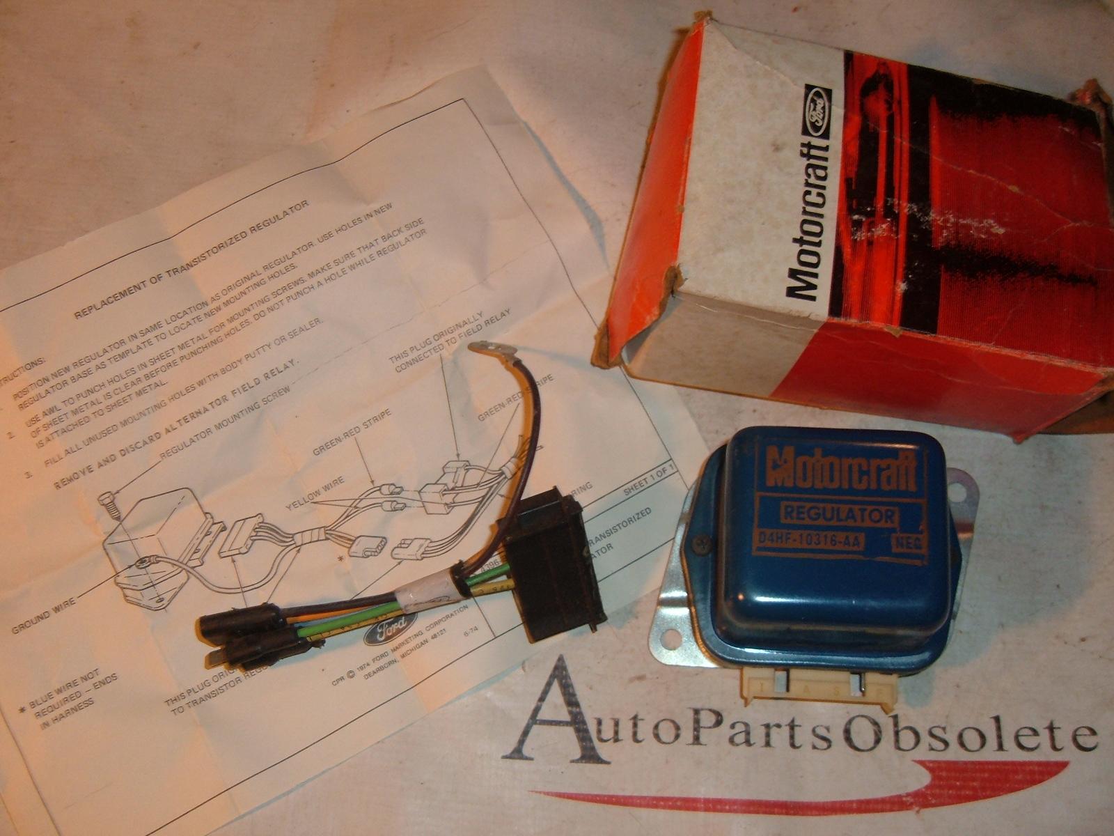 1964 65 66 67 68 69 70 71 72 73 ford transistor voltage regulator nos ford # D3TZ-19316-B (z d3tz19316a)