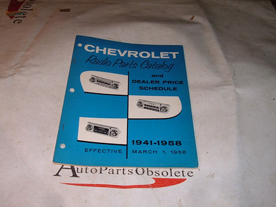 View Product1941 42 46 48 59 52 54 56 58 chevrolet radio service manual corvette impala original print (z 41-58radioman