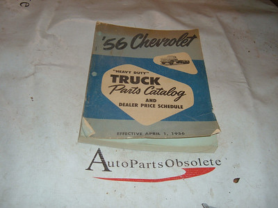 1955 56 chevrolet truck parts book original print gm (z 5506 chevtruck book)