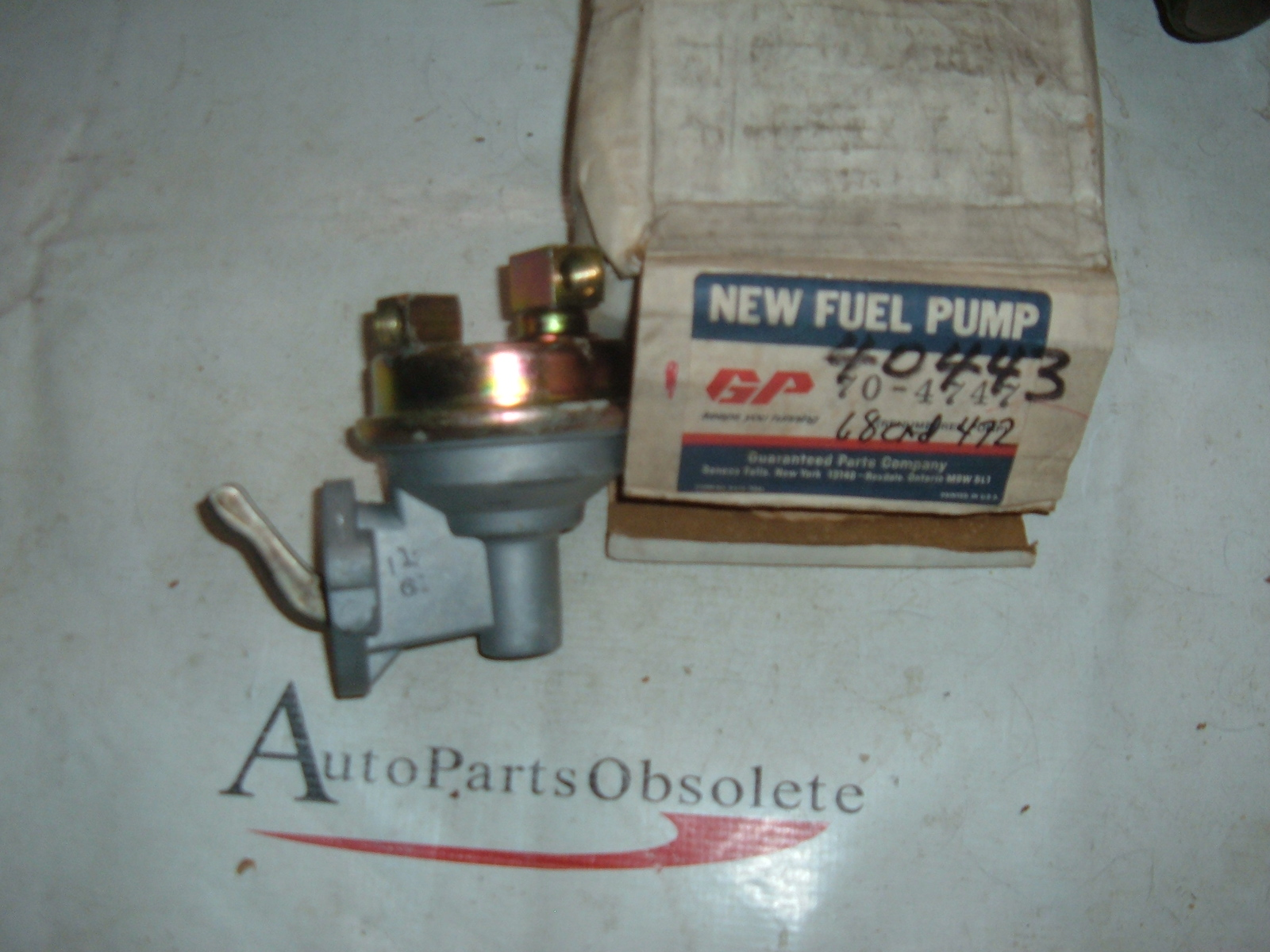 1968 cadillac fuel pump assembly # 40443 (z 40443)