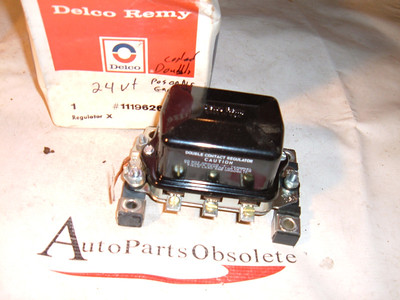 caterpiller tractor & industrial 24vt voltage regulator double contact ac delco 1119626 (z 1119626)