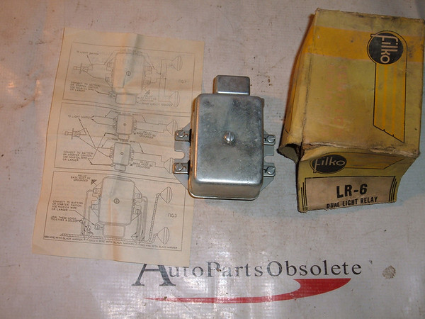 View Product1936 50 ford chevrolet studebaker dual headlight relay 6vt (z lr6)